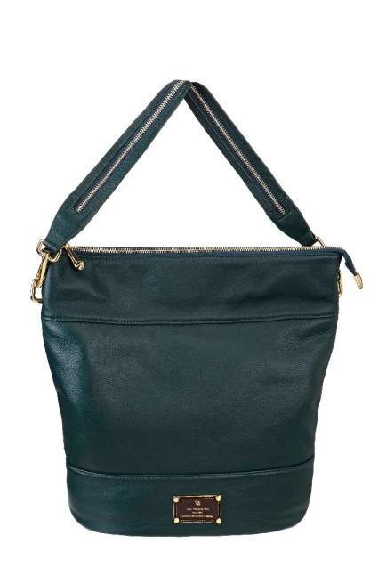 0818eec904b1 Купить зеленая кожаная сумка в форме трапеции Vera Victoria Vito в ...