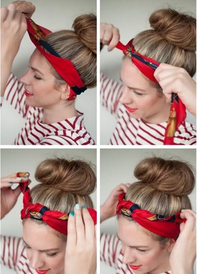 Как завязать пучок красиво